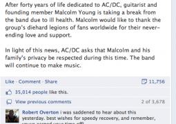 AC/DC : bon rétablissement Malcolm !