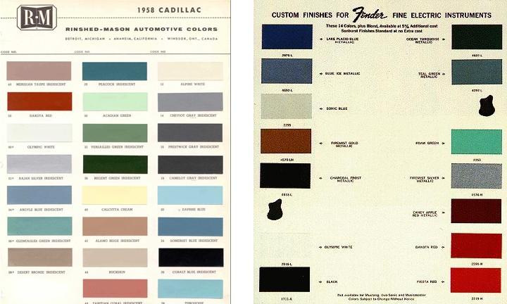 colorchartsfendercadillac